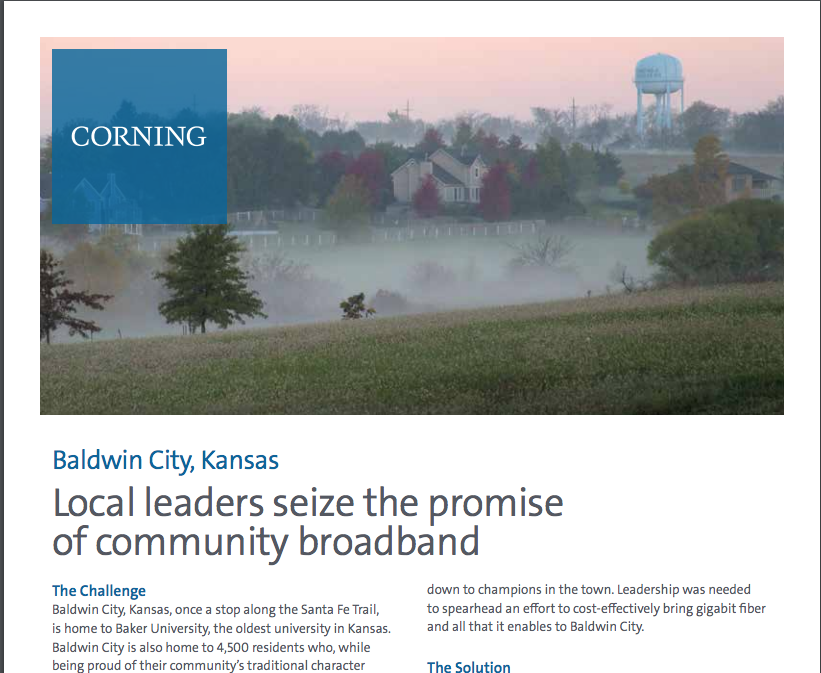 Corning Case Study Highlights Baldwin City & RG Fiber